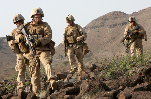 Marines traverse rocky terrain | by United States Marine Corps Official Page
