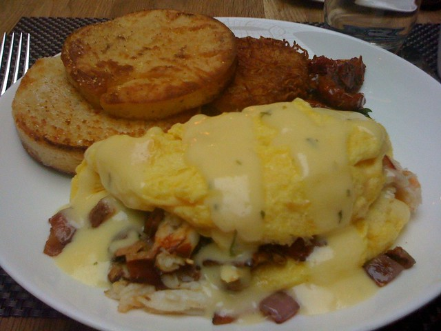 Dungeoness Crab Omelette with smoked bacon, english muffin… | Flickr ...