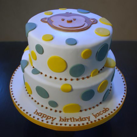 Mod Monkey Amp Polka Dot Birthday Cake Nicole Mcgarry Flickr