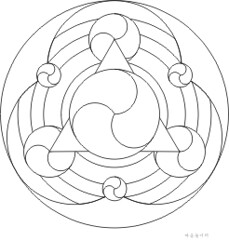 Yinyang mandala coloring 4 free mandala coloring design for Ying yang coloring pages