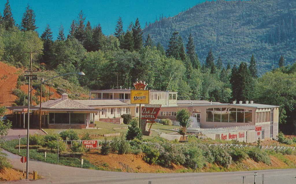 Oak-Lo Motel and House of Glass Restaurant - Dunsmuir, California