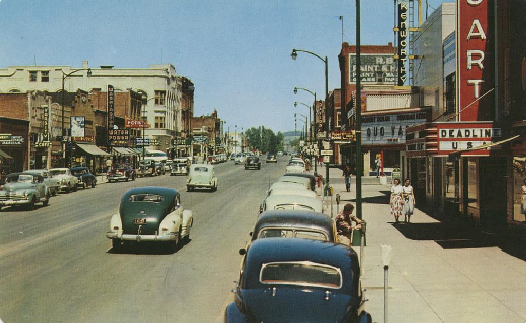 Main Street, 1952 - Moscow, Idaho   MAIN STREET MOSCOW ...