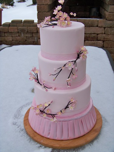 Pink Cherry Blossom Cake This Is A Cake That I Made For