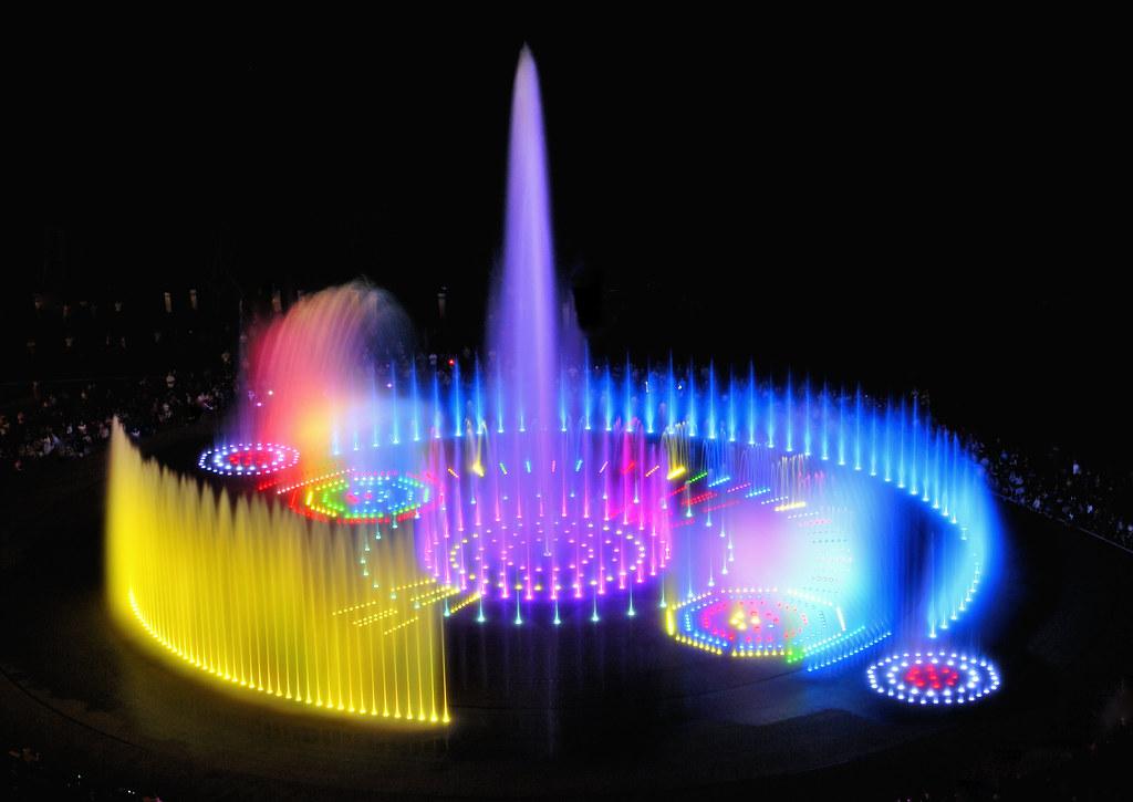 World S Biggest Floor Music Fountain Dadaepo Sunset