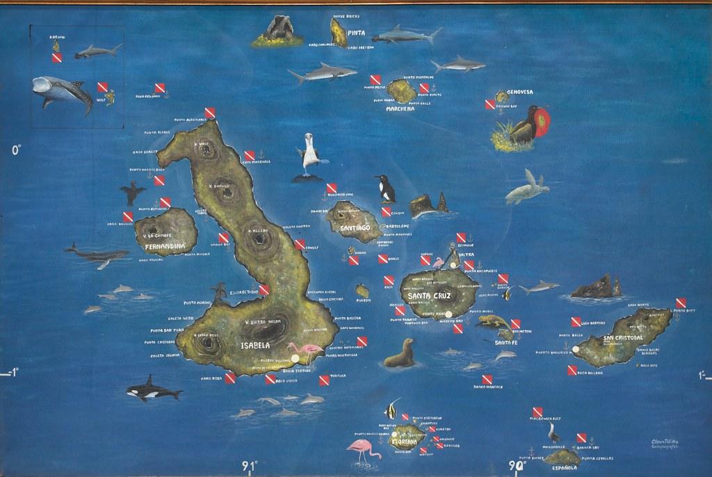map of the galapagos archipelago  best viewed in  u0026quot original u2026