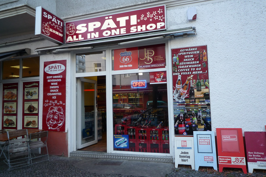 Spati shop in Berlin to buy cheap beer