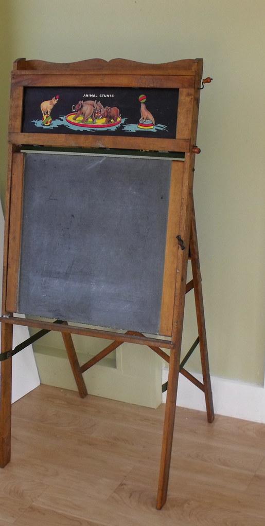 Antique Standing Blackboard Desk New Section Vintage