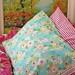 crochet-trimmed pillowcase...