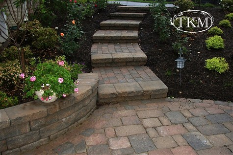 ... Paver Stairs Wall U0026 Patio | By Kings Masons