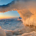 Gate of winter dawn