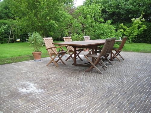 Terrasse en pav s de terre cuite n jacqmin terrasse en p flickr - Terrasse terre cuite ...