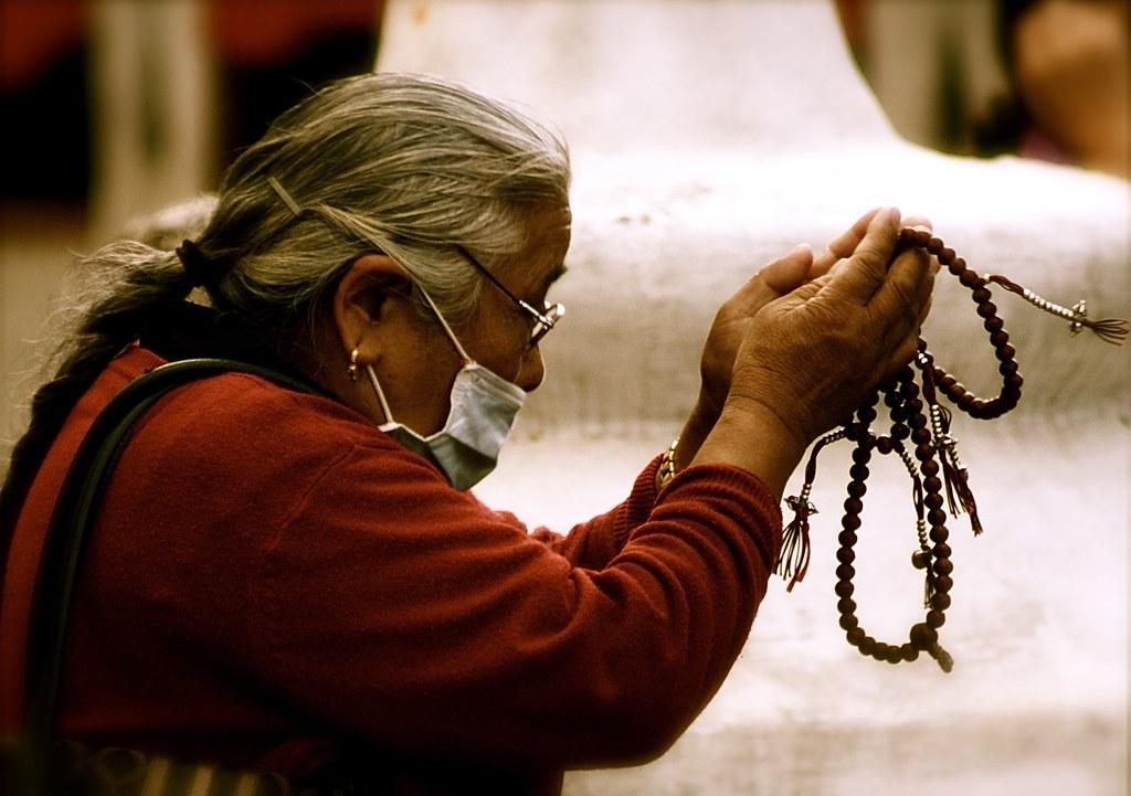Buddhist Prayers At The Bodhnath, Kathmandu