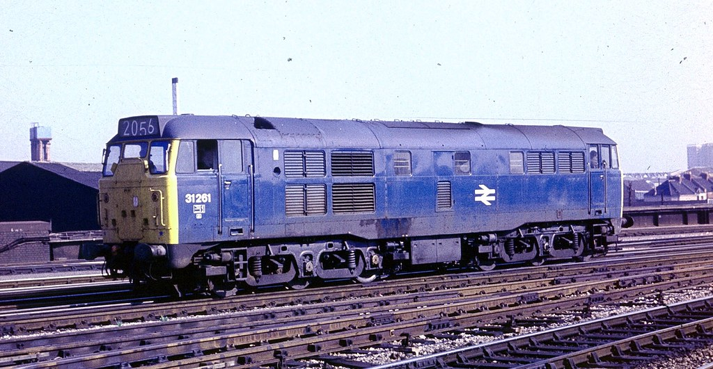Class 31 Diesel 31261 In British Rail Blue Having Come