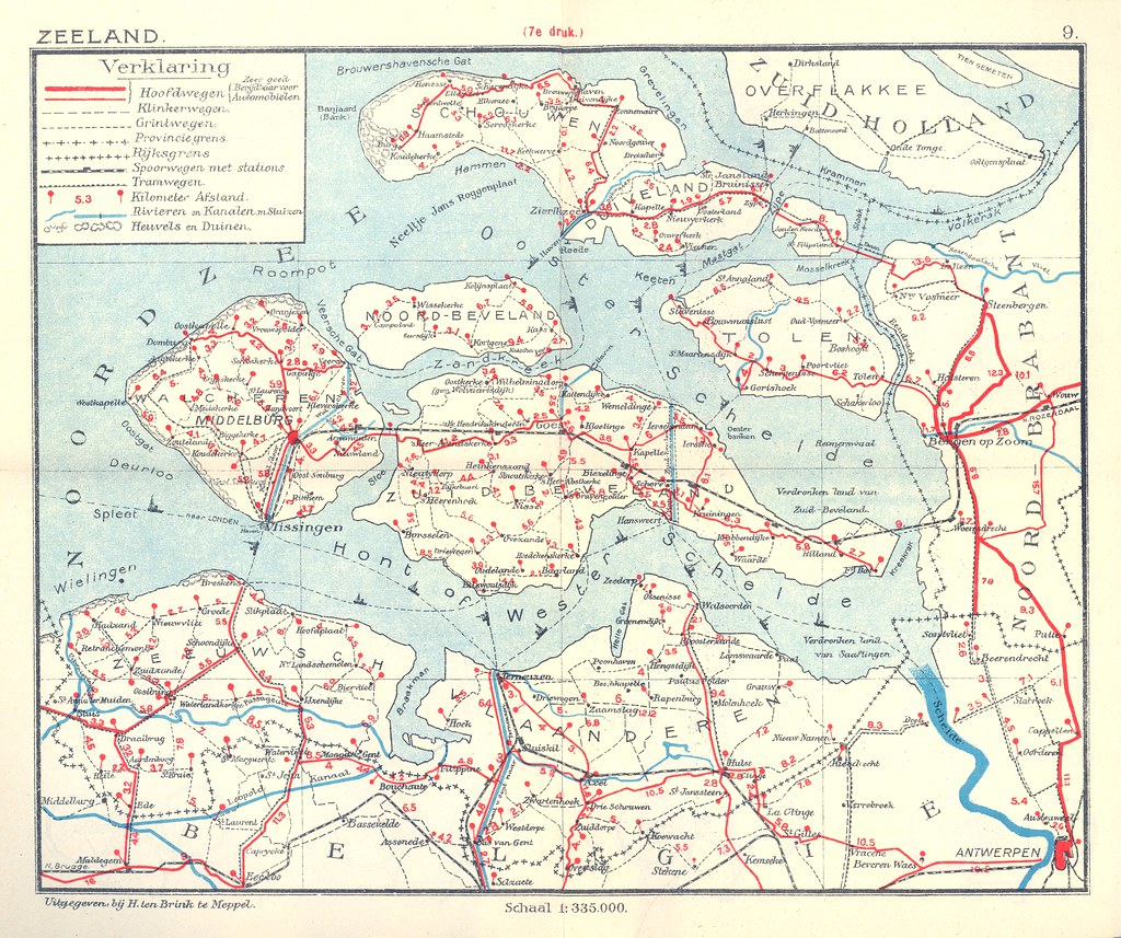 The Netherlands in 1914 Zeeland Maps from a small atlas Flickr