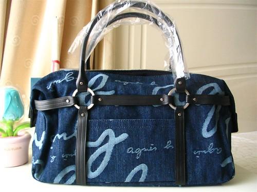 agnes b denim tote bag very pretty tote bag short handle flickr. Black Bedroom Furniture Sets. Home Design Ideas