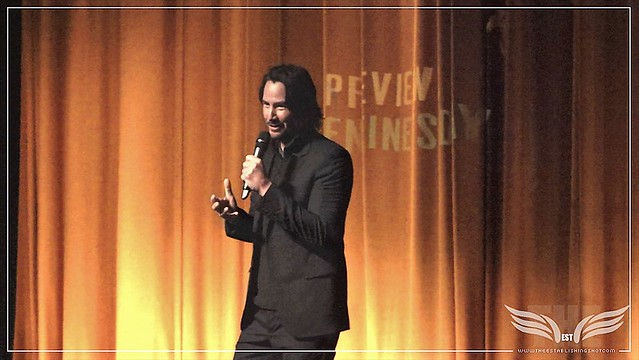 The Establishing Shot JOHN WICK 2 KEANU REEVES TALKS JOHN WICK AT THE UK GALA SCREENING - London, Vue Leicester Square