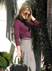 burgundy-halston-sweater-tweed-pants-boots-3 | by ...love Maegan