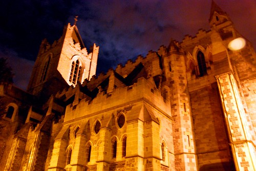 christchurch cathedral at night, dublin | by hopemeng