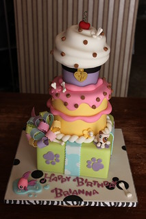 Littlest Pet Shop inspired Stacked Party Cake | by Andrea's SweetCakes