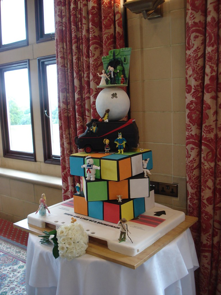 80s Themed Wedding Cake Full View 3 The Cake Was Just O Flickr