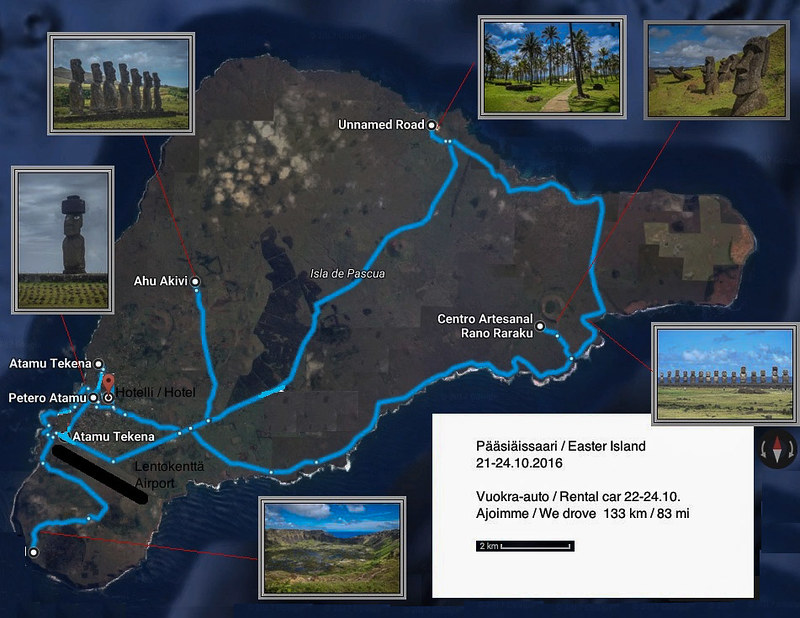 Our route in Easter Island