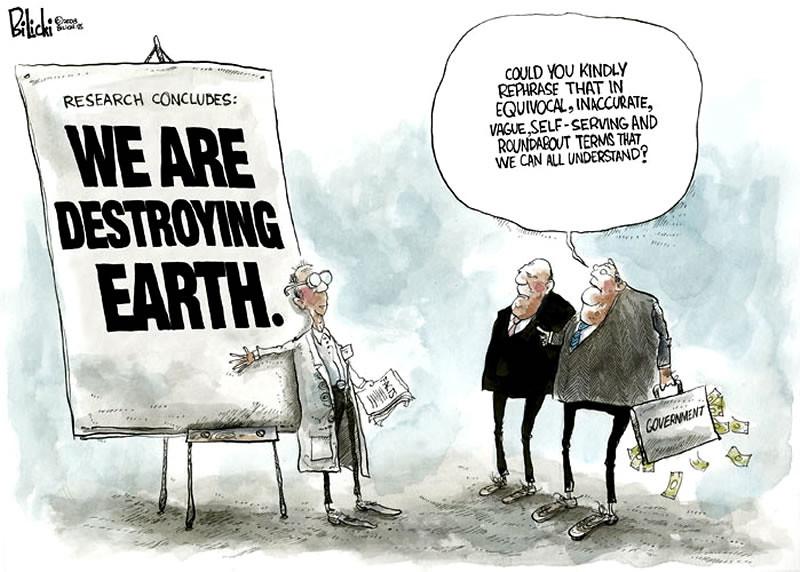 destroying earth