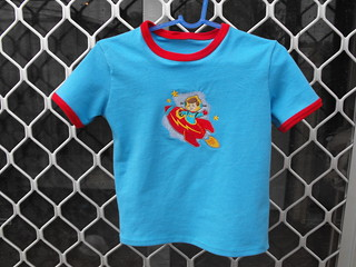 retro rocket tee | by Liam's Mummy