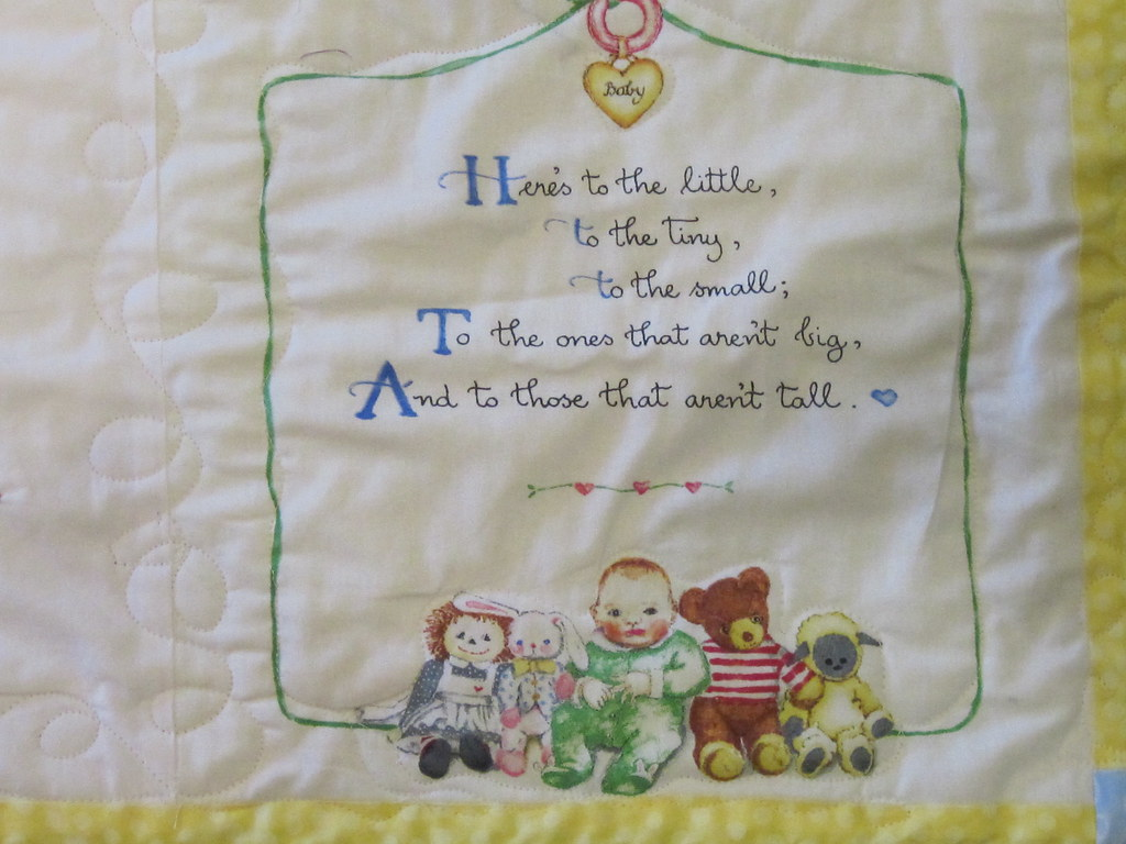 Growth Chart Quilt Poem Fabric From The Thecottoncupboard Flickr