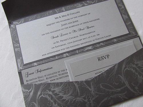 Michigan Pocketfold Invitation