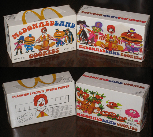 McDonald's - McDonaldland Cookie boxes 1975 and 1972 side-by-side comparison | by JasonLiebig