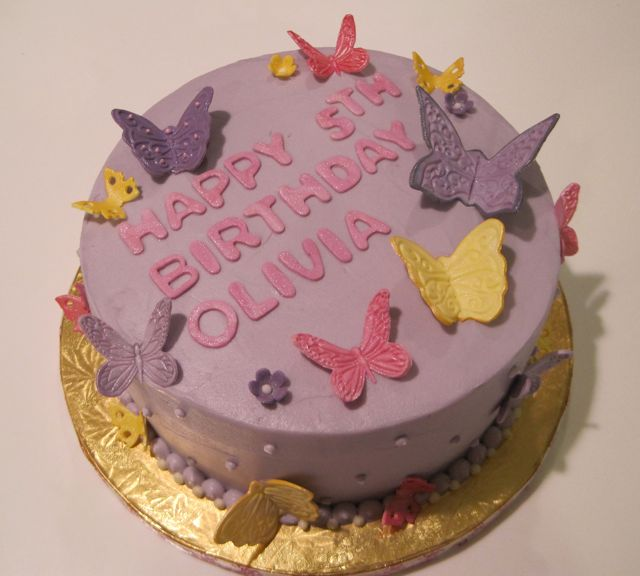 Butterfly Cake Pan Decorating Ideas : Butterfly cake Butterflies made of fondant. Cake covered ...