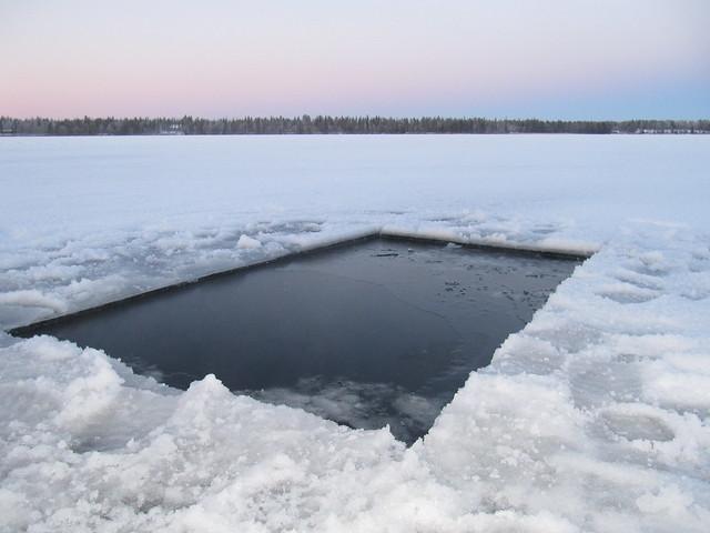 Piscina en el hielo