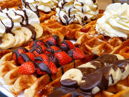 Recipe For Belgian Waffle Coated In One Side With Chocolate