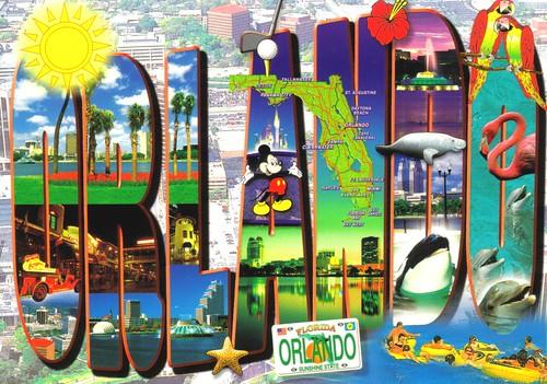 Large Orlando Florida Letter Postcard Florida Is The