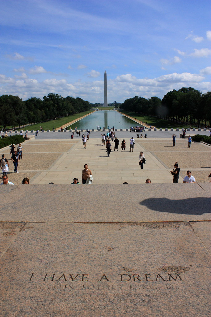 I Have A Dream View From Lincoln Memorial Towards Washingt Flickr