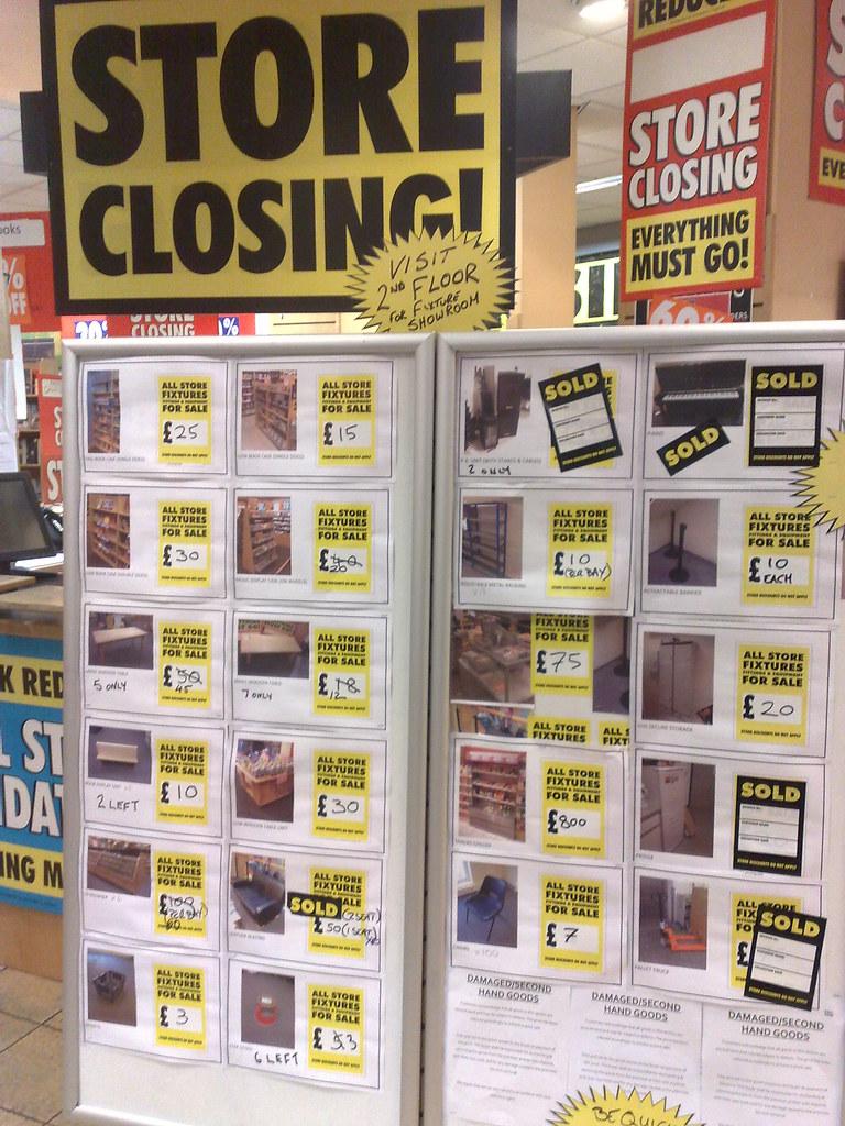 Borders Closing Down Sale Borders Bookshop Closing Down