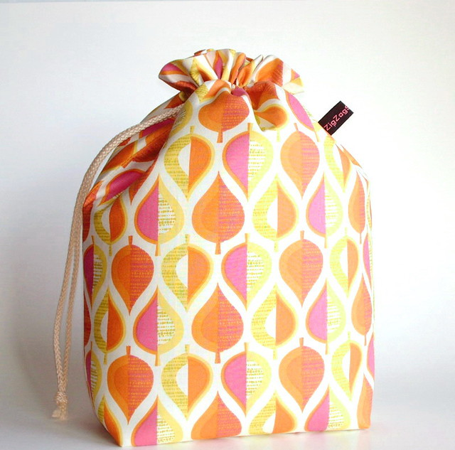 Bigger Padded Drawstring Bag | fabric designed by Erin McMor… | Flickr