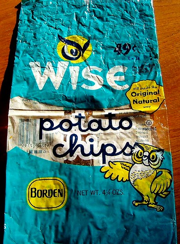 1974 Wise Potato Chips bag | from the same Craigslist lot ...