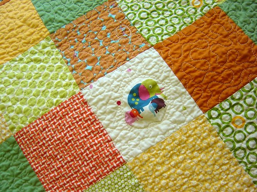 Dots & Critters Baby Quilt close up | by alissahcarlton