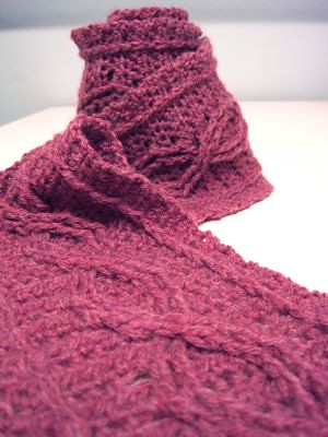 Crochet Scarf Patterns With Cables : Crochet Cable Scarf Pattern by Joyce Nordstrom Jenn ...