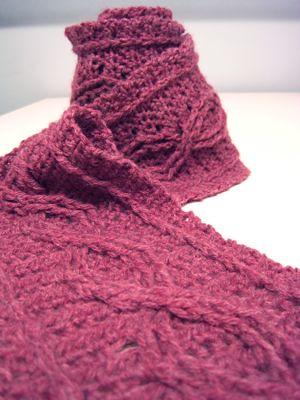 Crochet Cable Scarf Pattern by Joyce Nordstrom Jenn ...