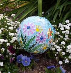 Teal Garden Gazing Ball 2 | by GardenDivaDeb