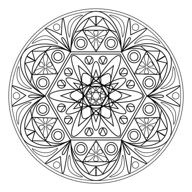 Printable Mandala 1 - RuthArt | drawn as a vector in PSP, I … | Flickr