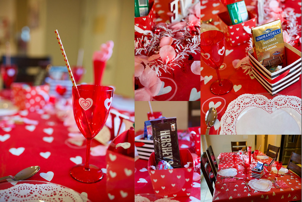 Valentines Dinner Table Decor