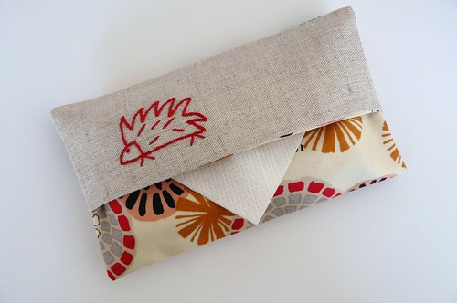 Hand embroidered tissue cosy | by edwardandlilly
