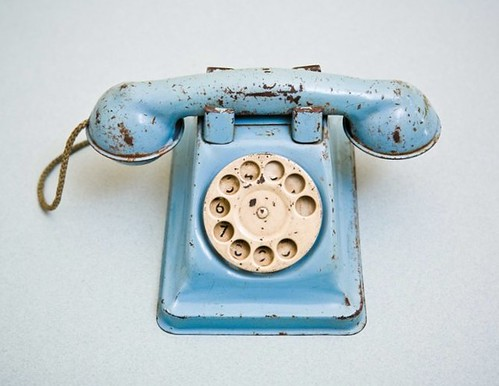 blue toy phone | by christineedwards