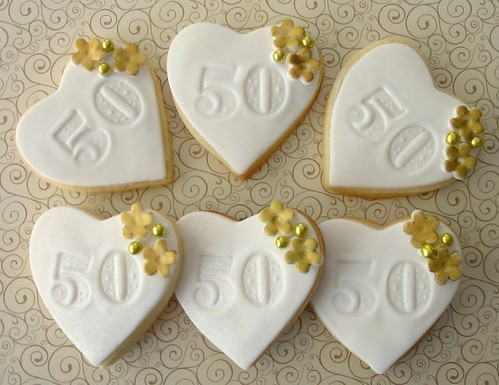 Mini 50th Anniversary Cookies Mini Anniversary Cookies