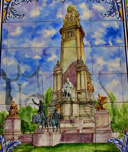 Azulejo del monumento a cervantes en madrid calles buen s - Azulejos del valle ...