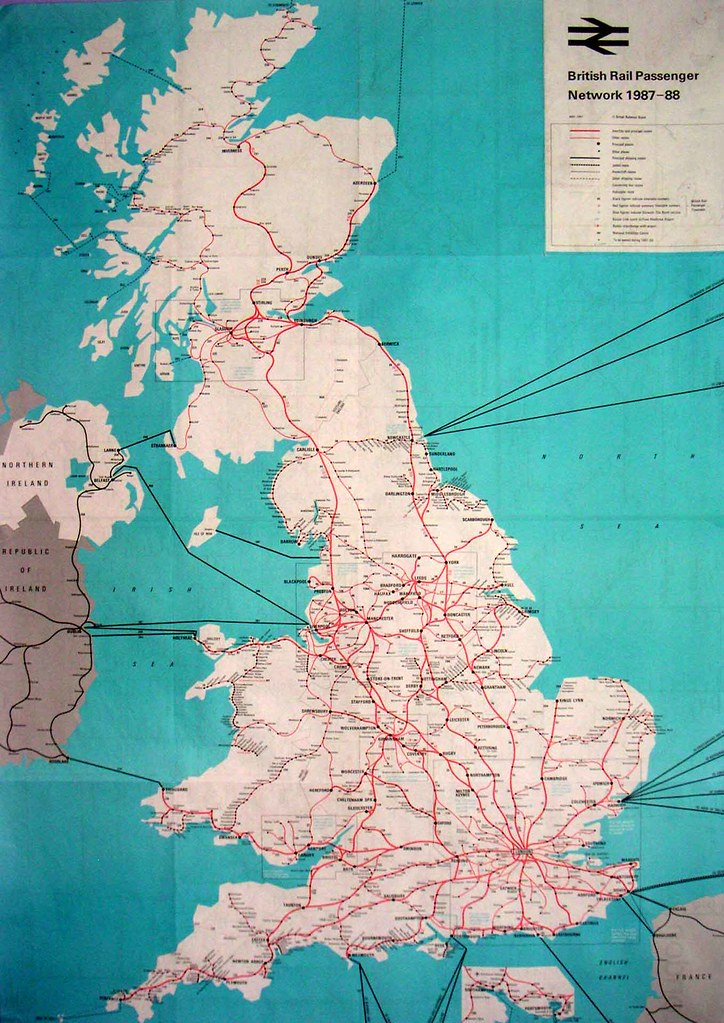 British Rail UK Map 1987   lovemark2008   Flickr