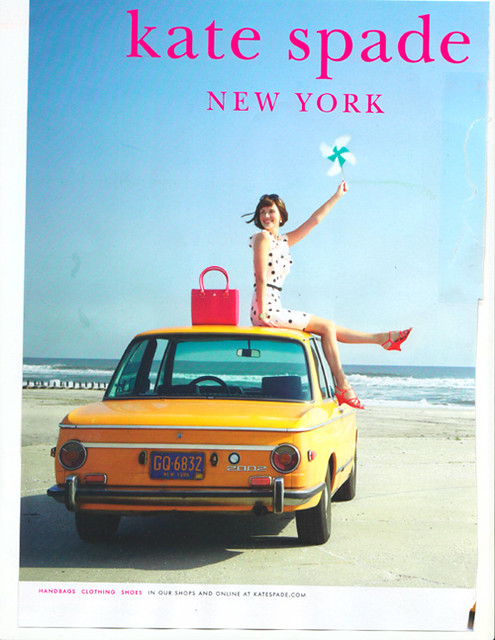 Kate Spade Ad Clipped From Vogue Love The Vintage Bmw